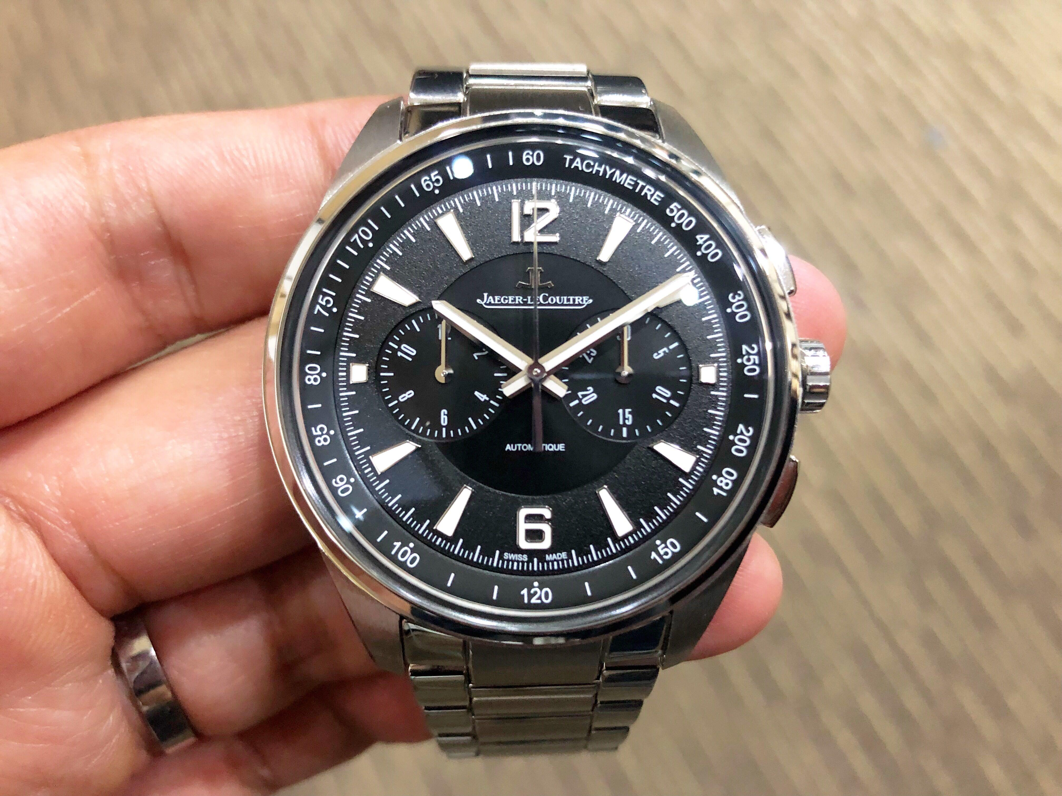 Like New Complete Sep 2019 Jaeger LeCoultre Polaris Chronograph Q9028170 8 Years JLC Warranty