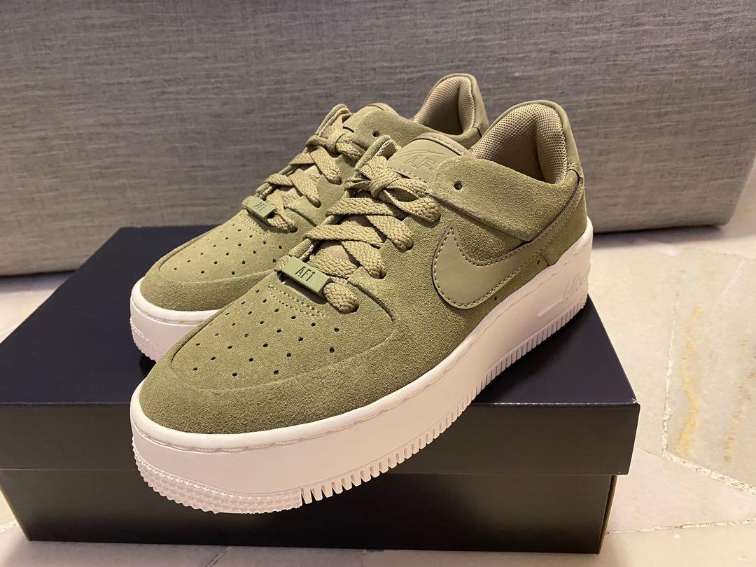 Nike Air Force 1 Sage Low Olive uk3.5