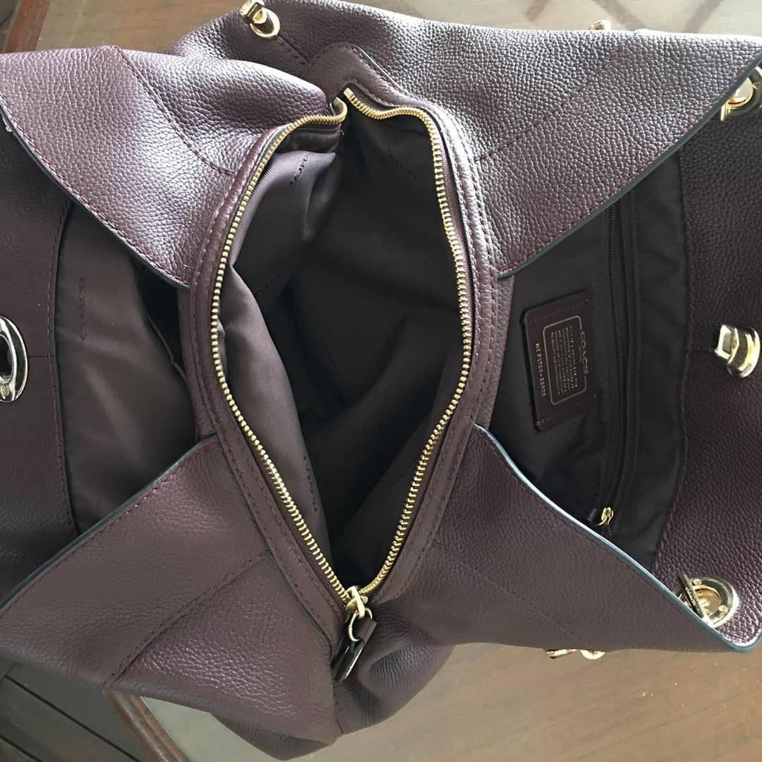Preloved Coach Eddie trun lock Oxblood Authentic bahan full leather (kulit asli) mulus dan Like New