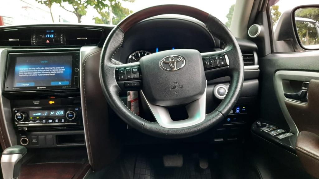 Toyota Fortuner VRZ Diesel AT Putih 2017, Dp 89,9 Jt, No Pol Genap