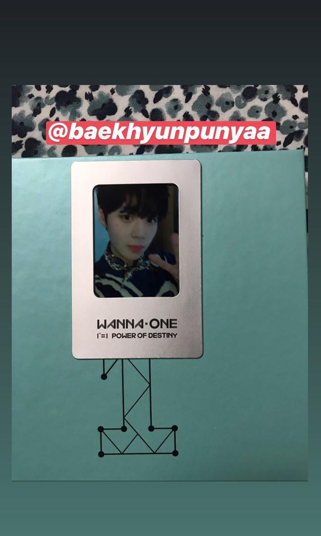 [WTS] WANNA ONE - POWER OF DESTINY (ong cover sleeve & park jihoon film photocard]