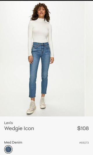 Levi's Wedgie Jean Size 26