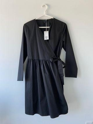 COS POPLIN WRAP DRESS