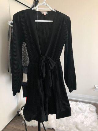 Simons Black Dress with Plunging Neckline