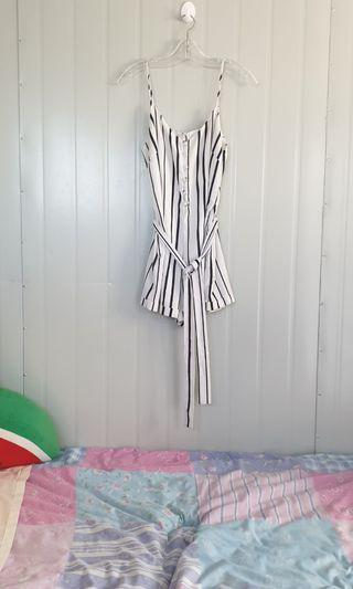 ☆ striped playsuit ☆