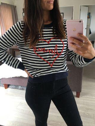 Striped amour knit
