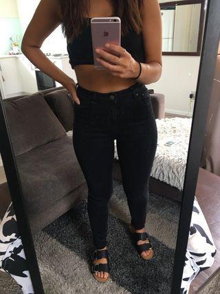 Fade black jeans
