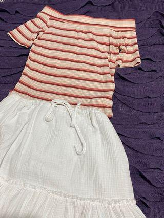 Cotton on Off the shoulder striped top