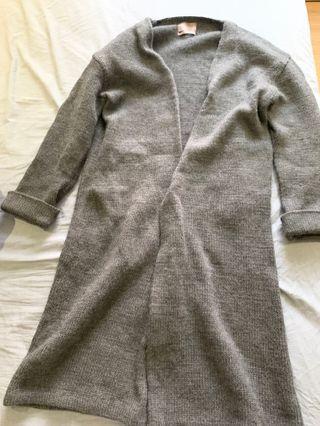 降!#nude / studio doe小安自創品牌高質感100%羊毛厚針織大衣