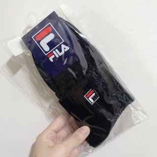 全新🔥Fila 黑色中筒襪