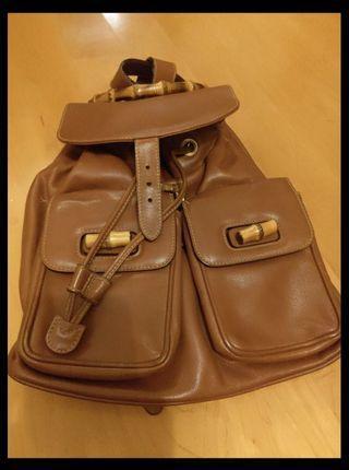 Gucci bamboo caramel backpack