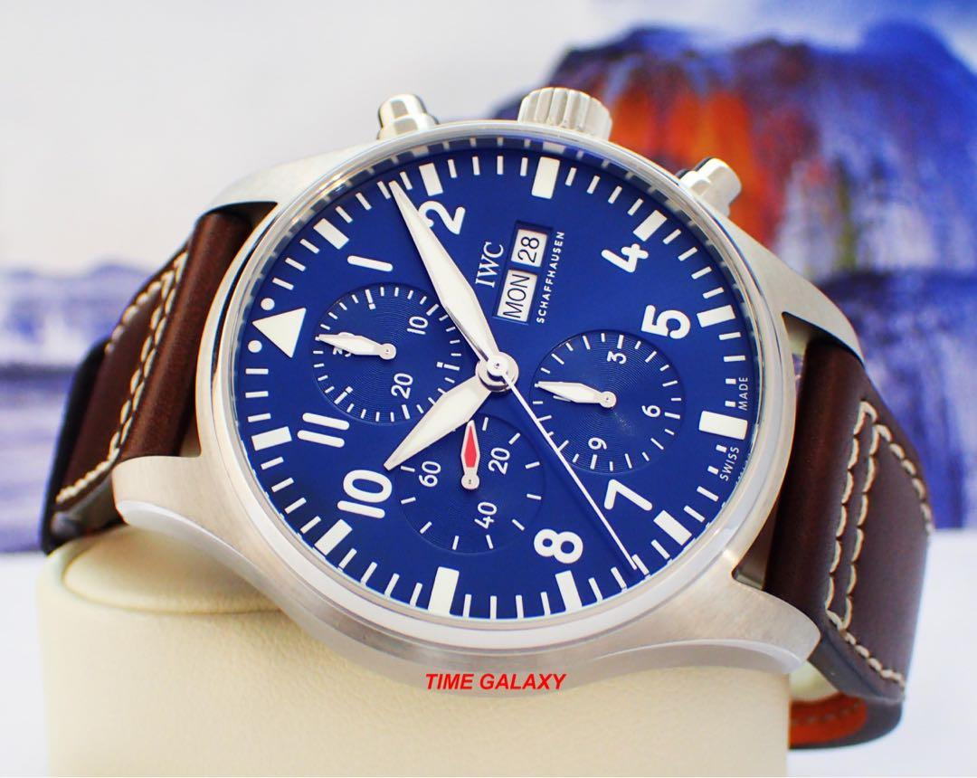 """Brand New IWC Pilot's Auto Chrono """"Le Petit Prince""""Special Edition 43mm Stainless steel Watch."""