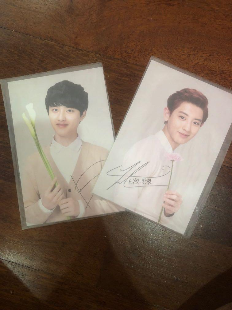 Chanyeol and kyeongsoo  nature republic photocard (ChanSoo)