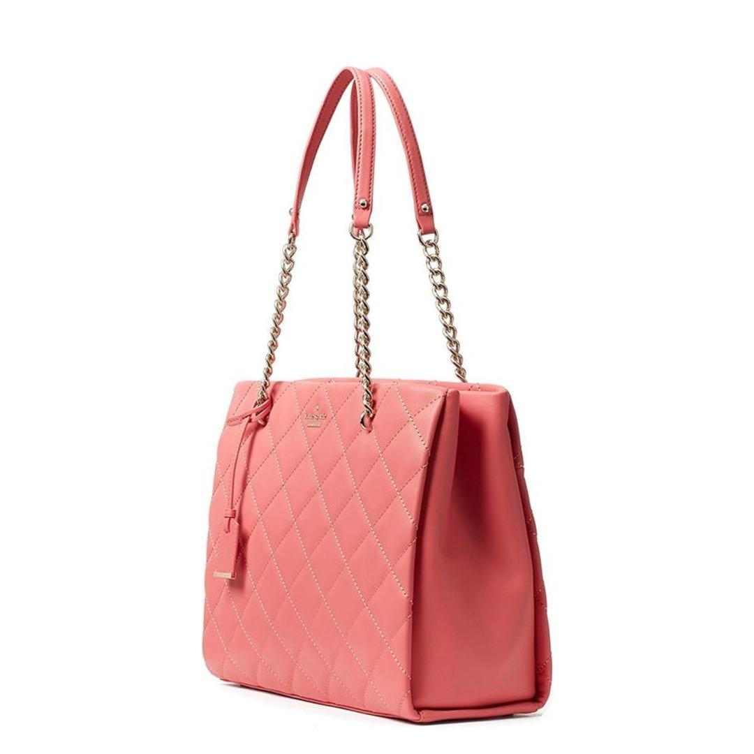 Kate Spade Emerson Place Phoebe Quilted Warm Guava Leather Shoulder Bag