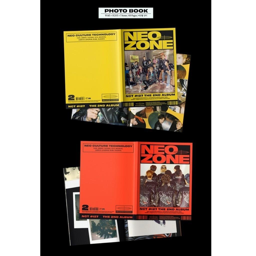 NCT 127 - The 2nd Album NEO ZONE N+C+ T Ver 3Album Set