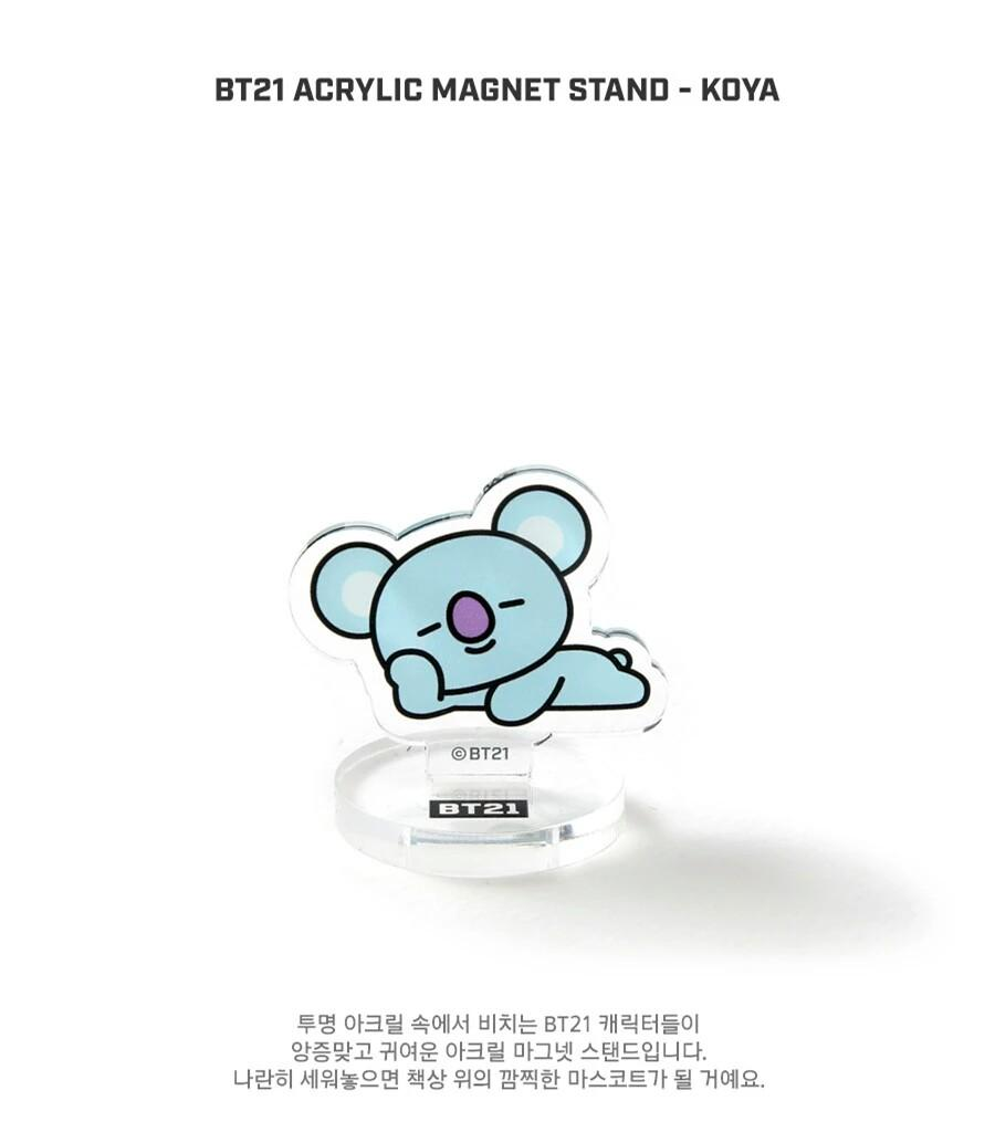 [PREORDER] BTS BT21 Character Acrylic Magnet Stand