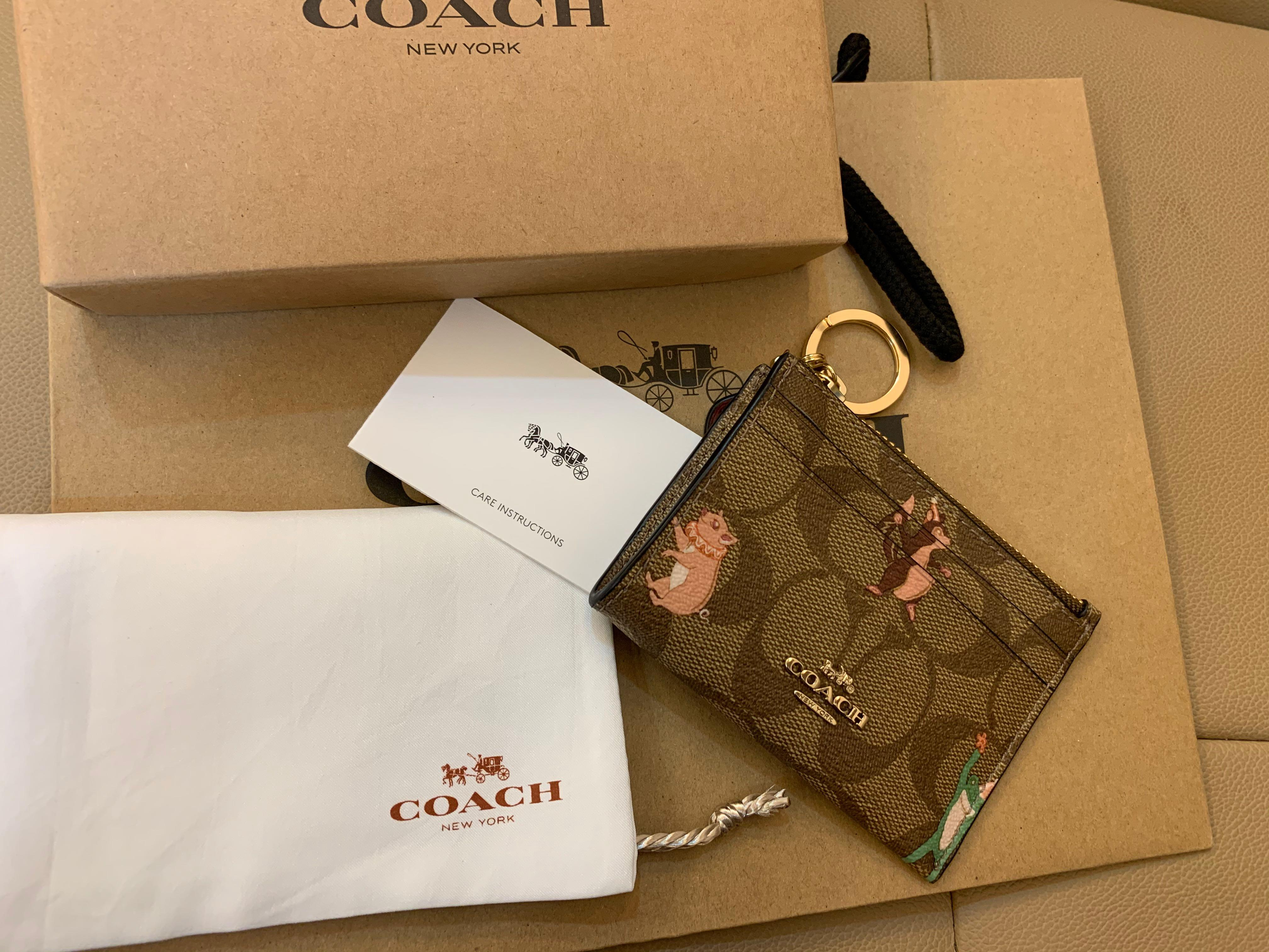 Ready Stock authentic coach women card holder lanyard 79930 sling bag