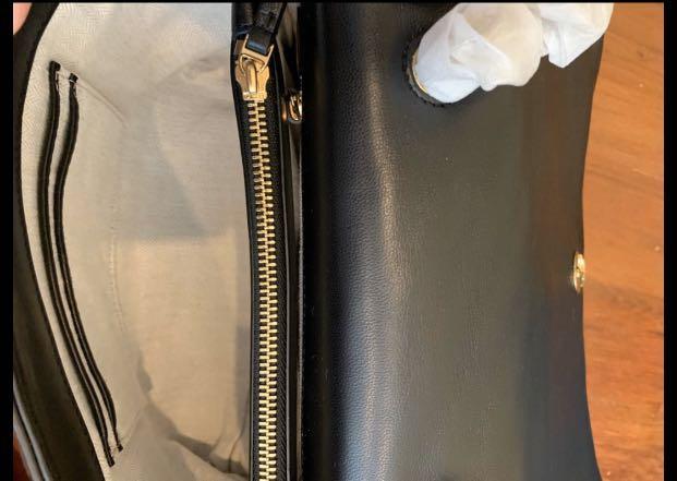 Ready Stock authentic Tory Burch Kira chevron calf leather crossbody strap