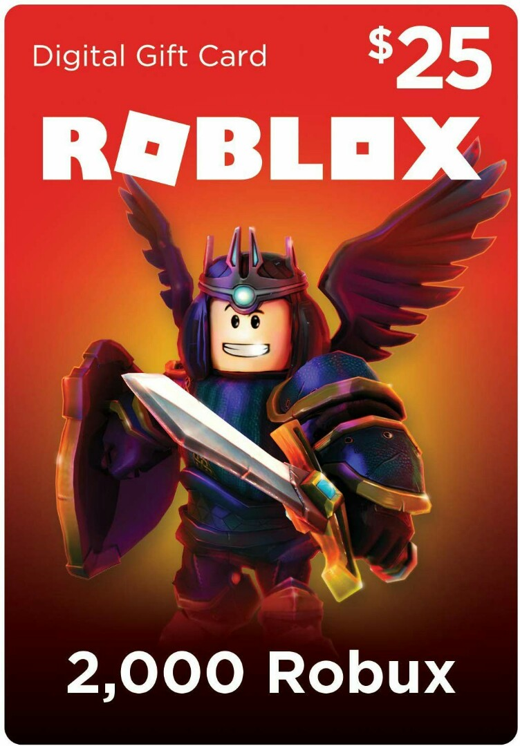 Roblox Gift Card 2 000 Robux Pc Digital Code Video Gaming