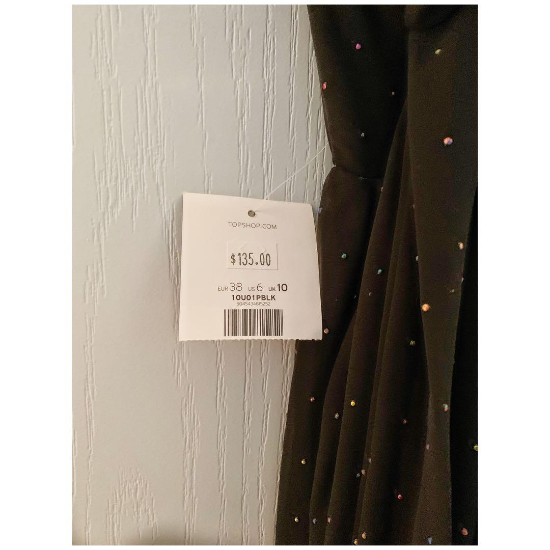 TOPSHOP Cutout sequin-embellished crepe maxi dress
