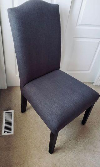 MUST SELL ASAP! 8 Grey Dining Chairs. 6 months old. Selling all 8 $800 or 4 for $400. Please read ad