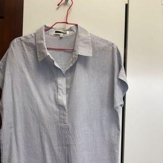 Hconnect 水藍色襯衫 短袖襯衫