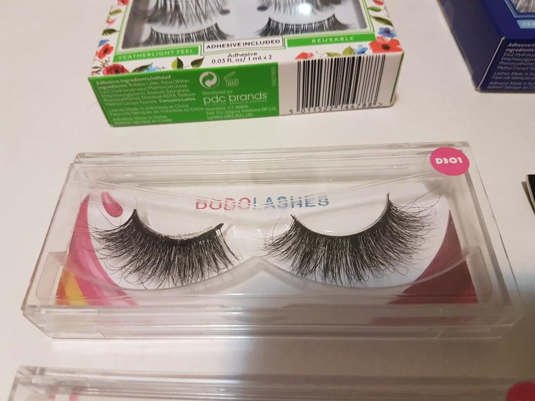 6 Pairs of Faux Mink False / Fake Eyelashes + Lash Holder Case ($100 VALUE!), BNIB