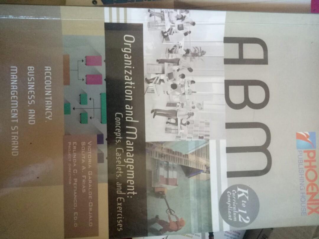 ABM Organization and Management Book by Garalde-Orjalo, Frias, Pefianco