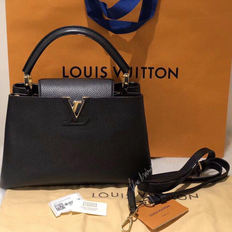 Authentic Pre-loved Louis Vuitton Capucines BB Black Taurillon Leather M94755