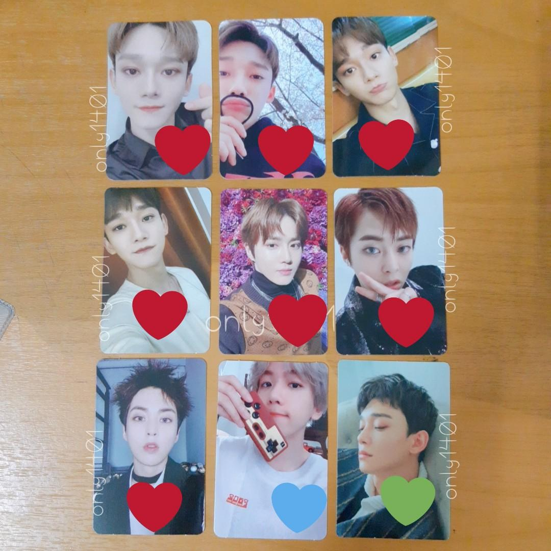EXO OFFICIAL ALBUM PC, BAEKHYUN PC, CHEN PC, SUHO PC, XIUMIN PC