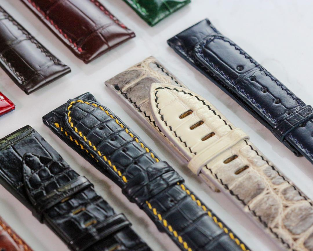 Handmade handstitched watch straps for client's rolex , AP, patek , omega , iwc , panerai , Frank Miller , Alange watches