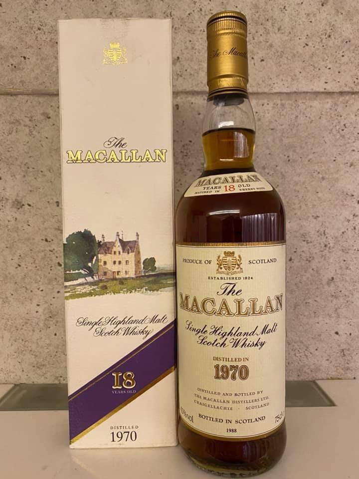 Macallan 1970 18 Years Old Sherry Oak Single Malt Scotch