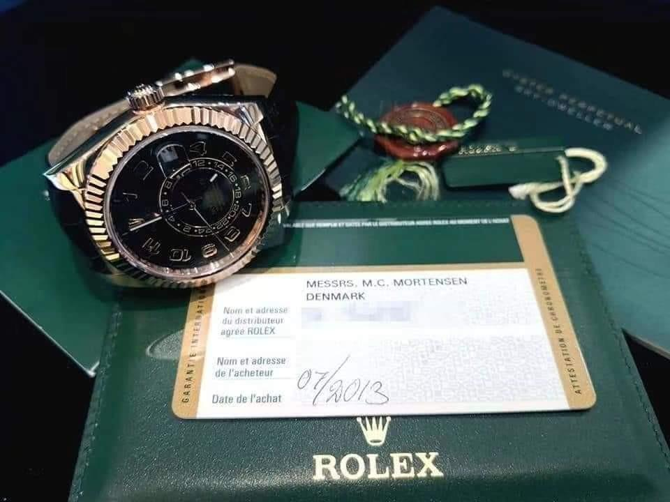 PREOWNED ROLEX Sky-dweller, 326135, Everose Gold, 42 mm,  Alphanumeric Series @ Year 2013 Mens Watch