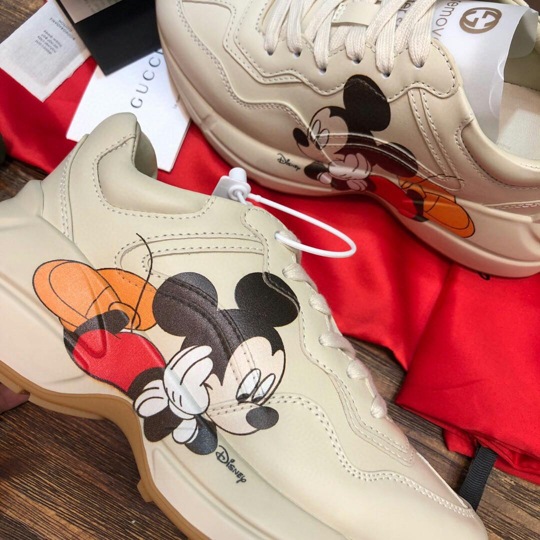 spot take new packaging box latest upgrades edition mickey leather sole beige leather outsole custom sole mould private mould outsole laser FangWeiXian a full set of original original anti-counterfeiting packaging