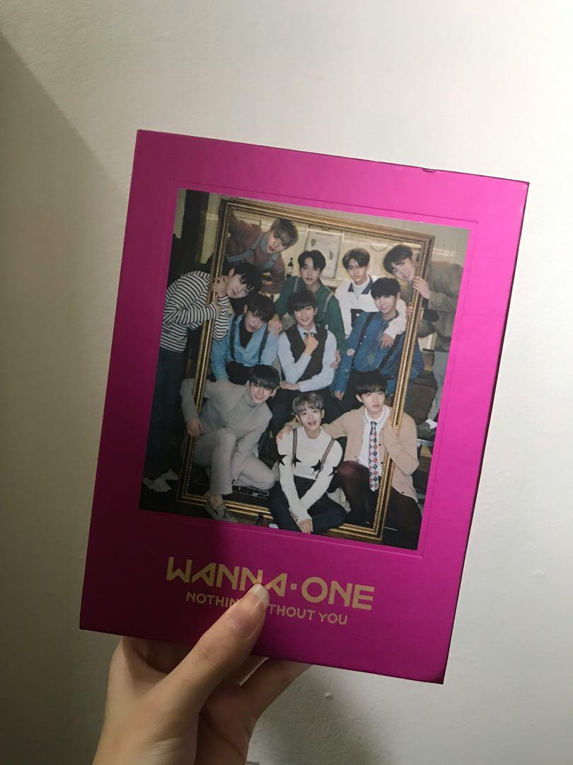 WANNA ONE OFFICIAL NOTHING WITHOUT YOU ALBUM with photocard, mini standing banner & calendar