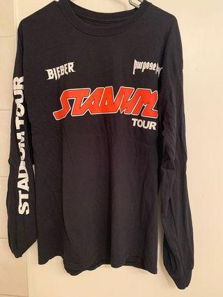 Justin Bieber Purpose Stadium tour shirt