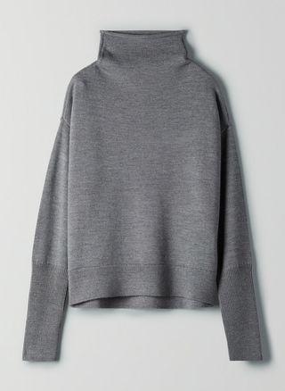 Aritzia Wilfred Cyprie Sweater - Heather Dark Grey - S