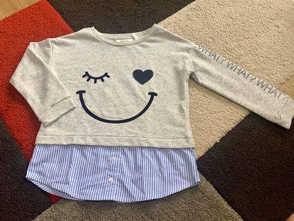 BNWT Authentic H&M Long Sleeves Pullover 4-6Y