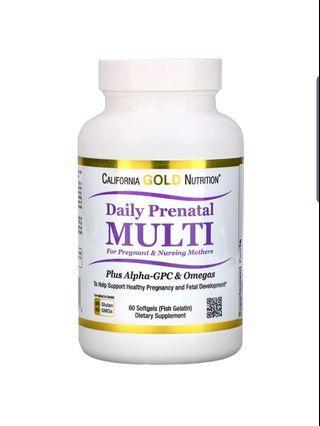 California Gold Nutrition, Prenatal Multi for Pregnant & Nursing Mothers, 60 Fish Gelatin Softgels