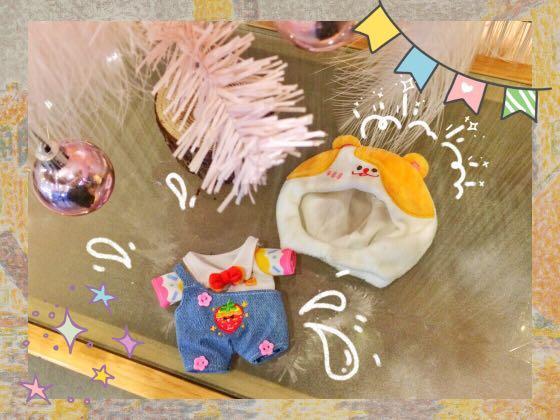 15cm/20cm doll honey bear/strawberry hamster jumpsuit set preorder