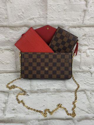 HIGH QUALITYLV  FELICIE WITH COUN POUCH