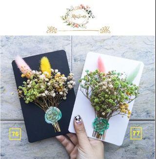 黄色系兔尾满天星花卡 • Yellowish Theme Rabbit Tail Baby Breath Floral Card