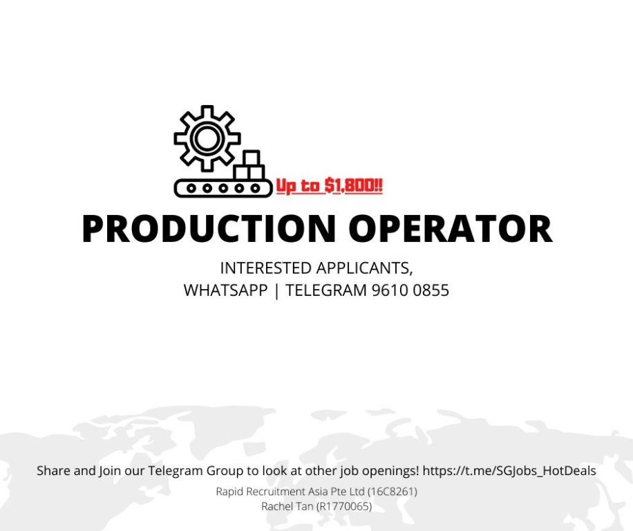 🔌 Production Operator - ( Up to $1,800 | WEST  | URGENT )