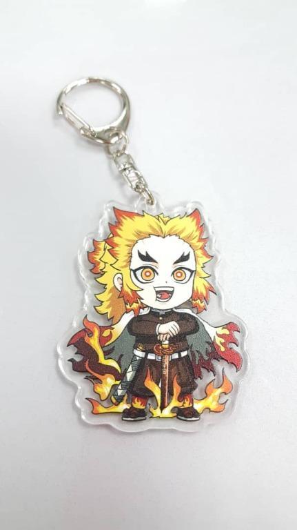 Anime acrylic keychains featuring Mitsuri, Shinobu, Giyu and Rengoku from Demon Slayer: Kimetsu no Yaiba
