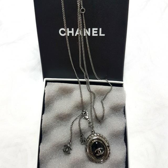 Authentic Chanel Limited Edition black long necklace  *Limited Edition* *discontinued model* *34inches adjustable to shorter length* *come with original box,dust bag and receipt*  *bought in Hong Kong*