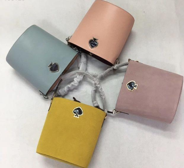 Authentic Kate Spade Suzy collection sling bucket bag large saddle bag