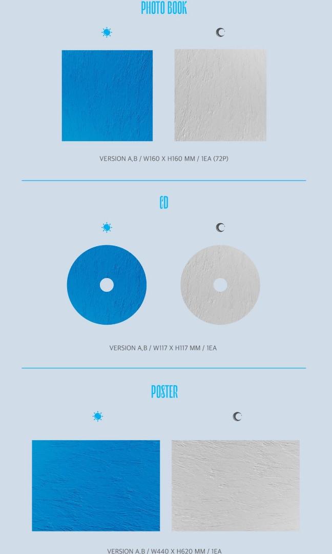 [GO] Kang Daniel 1st Mini Album Color on Me 'CYAN'