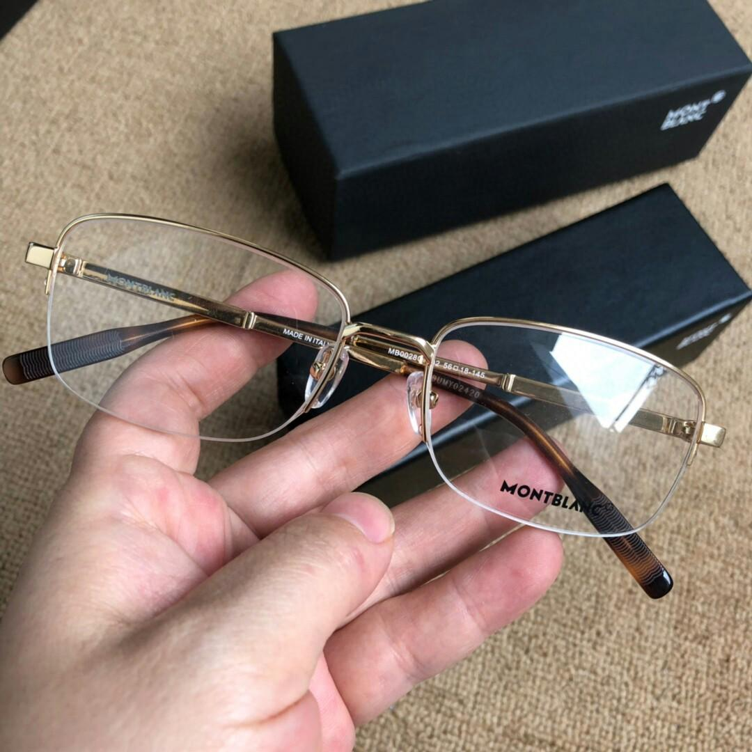 Montblanc optical frame shop in the new model classic half box optical frame have qualitative feeling light and reveal the man taste
