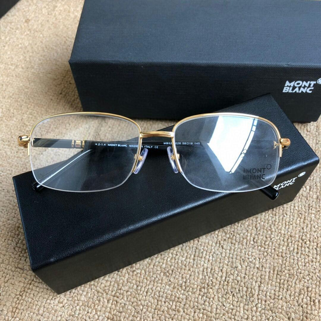 Montblanc optical frame shop in the new model half box classic have qualitative feeling light and reveal the man taste