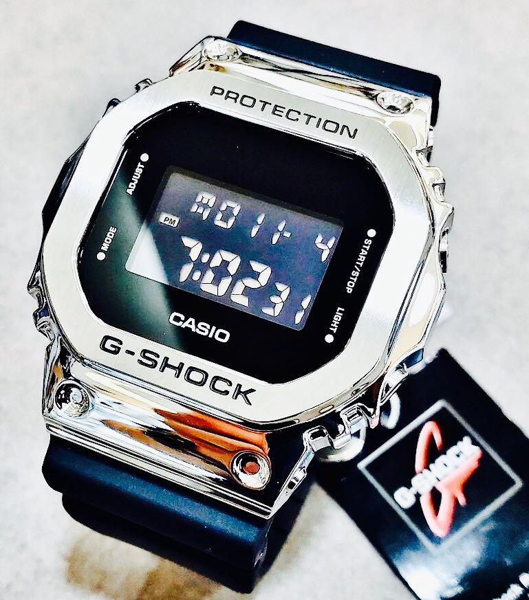 NEW🌟EDITION : GSHOCK UNISEX DIVER SPORTS WATCH : 100% ORIGINAL AUTHENTIC CASIO G-SHOCK : GM-5600-1DR / GM-5600-1 / DW-5600-1 (SILVER-BLACK)